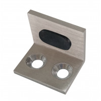 Glass Door Angle Stop Stainless Steel