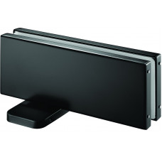 Stainless Glass Door Hydraulic Patch in Matte Black