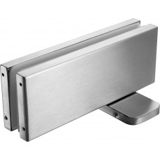Stainless Glass Door Hydraulic Patch Heavy Duty
