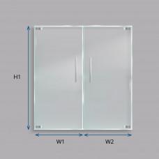 Custom Laminated Smart Glass Double Doors (Frameless)