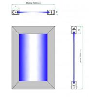 Custom Framed Laminated Aluminium Smart Glass Door