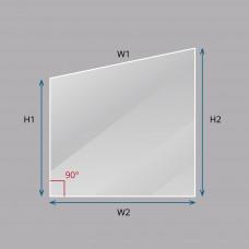 Custom Raked Laminated Smart Glass