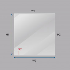 Custom Square / Rectangle Laminated Smart Glass
