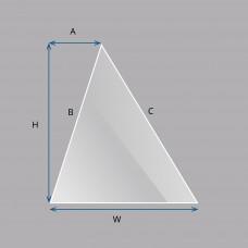 Custom Triangle Laminated Smart Glass