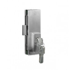 Center Lock Glass Door Patch - Stainless