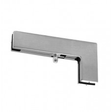 Top Patch Glass Door Over/Side Connector Stainless Brushed