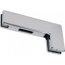 Top Over Patch Glass Door Strike Plate Stainless Brushed
