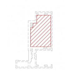 SG Universal Aluminium Partition Door Frame Wood Insert