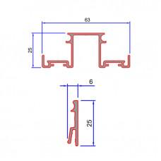 DG01, SG02(x2) Double Glazed Base Track Three Part