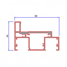 DGDF, Double Glazed Universal Aluminium Partition Door Frame Kit