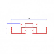 DWRA/SG/C, Wrap Around Single Glazed Insert (Head Track/Abutment/Door Frame)